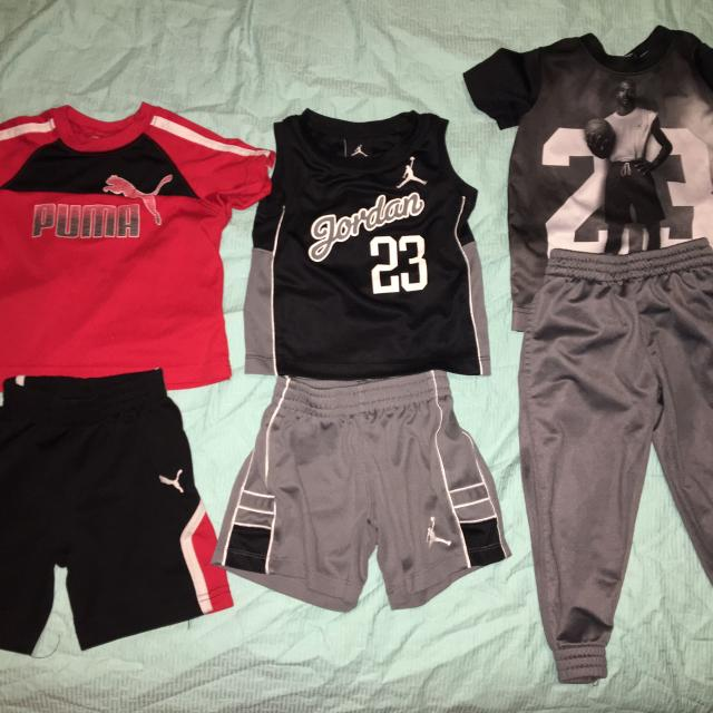 5beb72ba906fac Find more Boys Puma   Jordan Sets + 2 Onesies for sale at up to 90% off