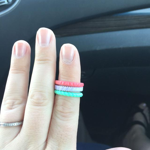 Find More 3 Brand New Stackable Silicone Enso Rings Sz 7