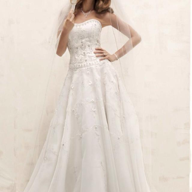 a938506a4ac Best Oleg Cassini Satin Bodice With Organza Skirt And Beading Wedding Gown  (ivory) Orignal  1150 for sale in Brazoria County