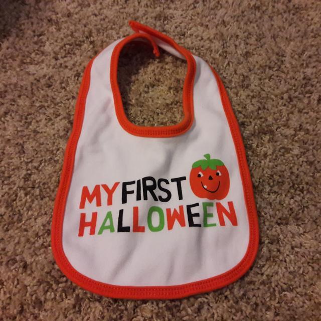 first halloween bib