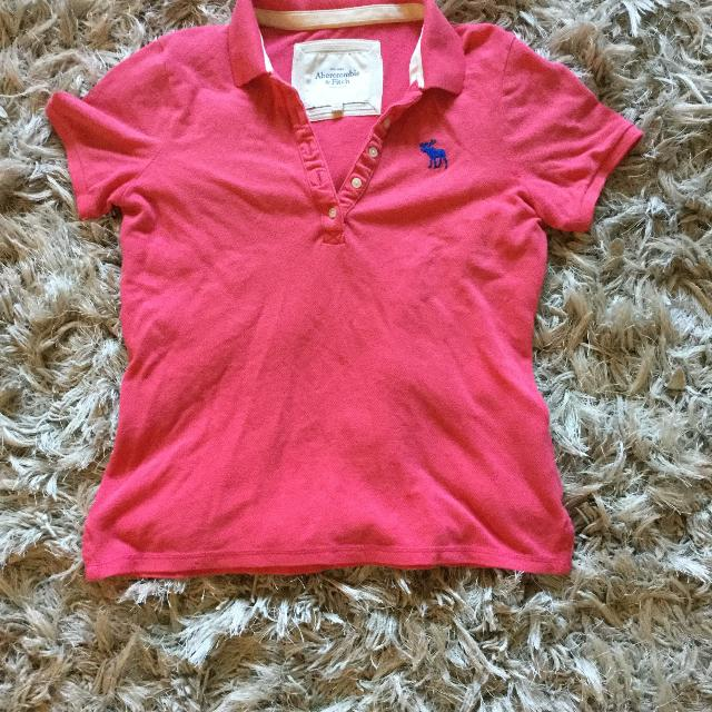 Bright pink Abercrombie & fitch polo