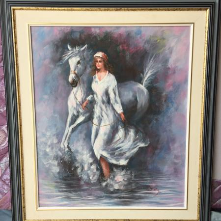 Painting – a woman with horse for sale  Canada