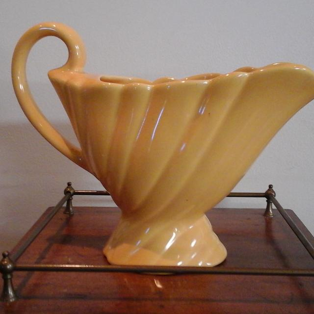 Best Vintage Bauer Vase With Handle Watering Pitcher For Sale In