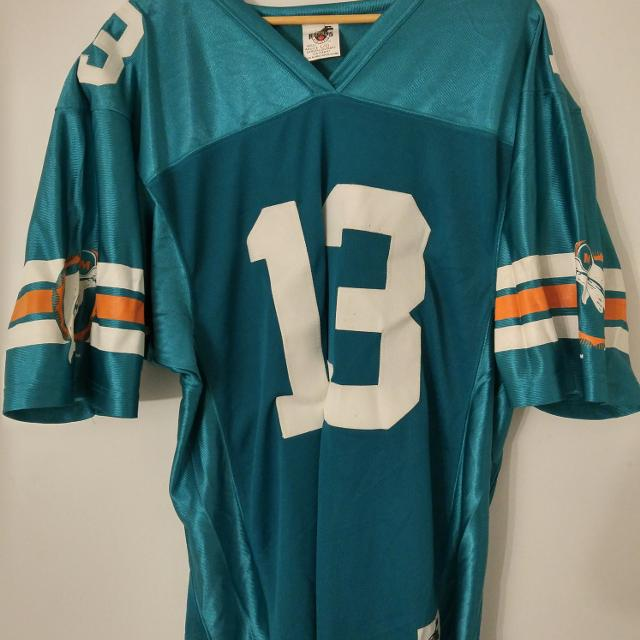 watch df5f3 7e7f6 Vintage Dan Marino Miami Dolphins Jersey Size Large