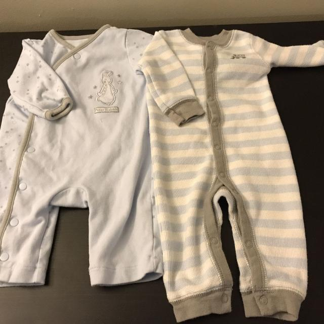 Find more Set Of 2 Footless Baby Boy Sleepers. 0-3 Months 🏻 for ... fb6f0707f