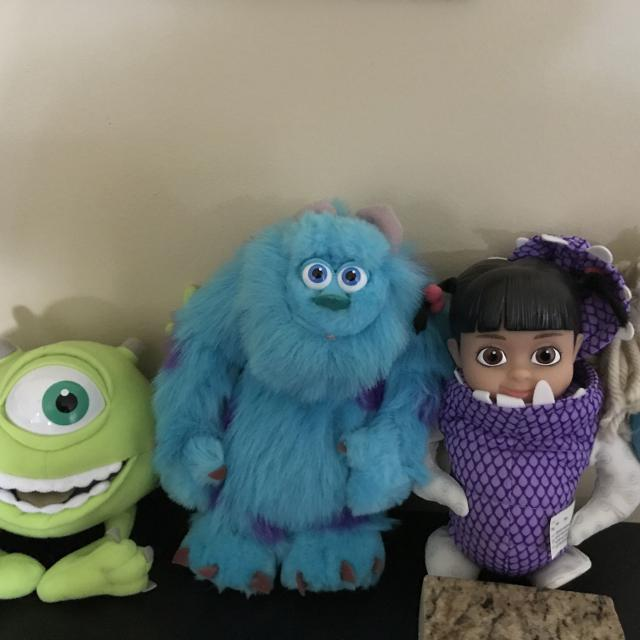 Disney's Monsters, Inc  Characters - Mike Wazowski, Sully and Boo in Costume