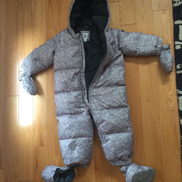 27566f9af Find more Gap Down Heather Puffer Snowsuit 18-24 Mon Like New!! for ...