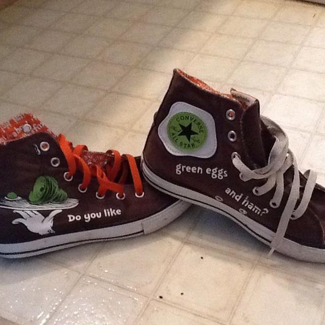 Find more Green Eggs And Ham Converse for sale at up to 90% off 9980dc326