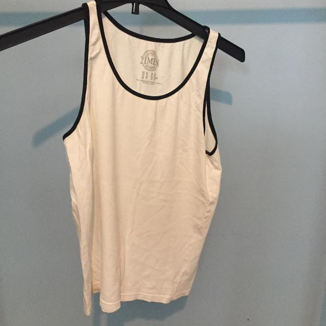 35a34844dca552 Best Forever 21   21 Men White Tank Top With Black Lining for sale in  Dollard-Des Ormeaux