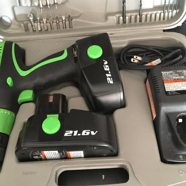 Find more Kawasaki 21.6 Volt Cordless Drill Driver With 2 Batteries