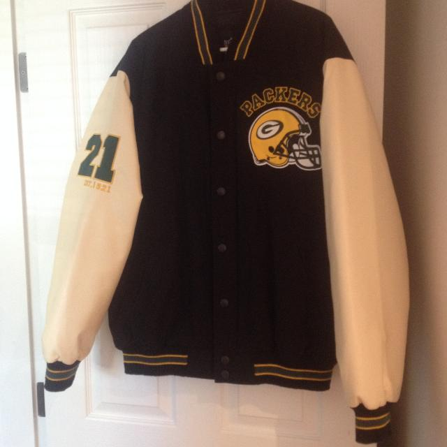 finest selection f7879 63953 NWT!! Green Bay Packers letterman jacket NFL official