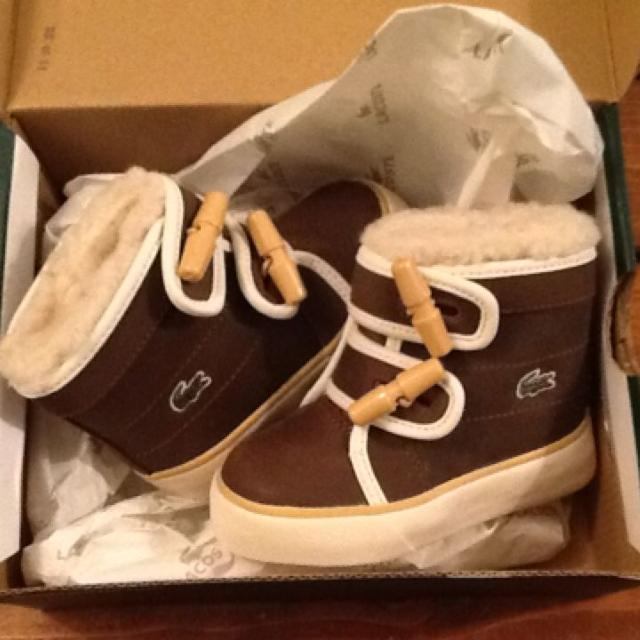 1b7c0d8508c9 Best Size 4.5 Baby Lacoste Brown Leather Boots for sale in St. John s