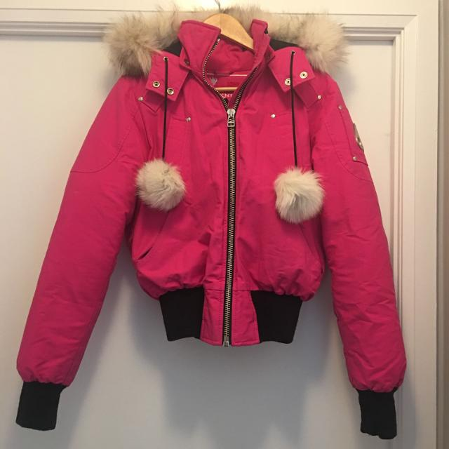 920384d7f Moose Knuckles Debbie Bomber hot pink size small