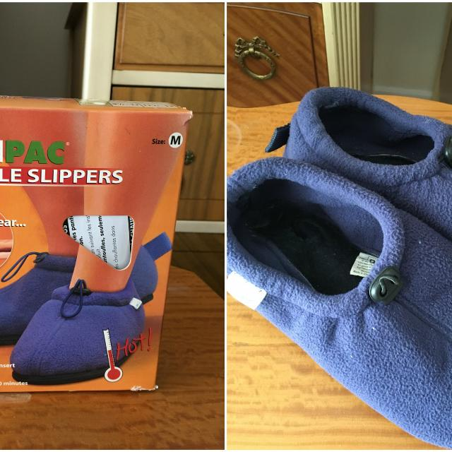 Health Pac Heatable Microwavable Slippers Size 6 8 5
