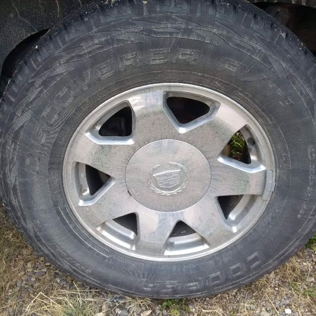 Find more chevy rims with cooper tires at3 approx 65 tread chevy rims with cooper tires at3 approx 65 tread remaining 6 bolt publicscrutiny Gallery