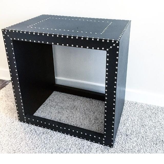 Best Small Leather Studded Side Table For Sale In Charlotte North - Studded coffee table