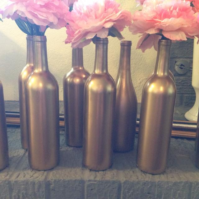 Best Gold Wine Bottle Vases For Sale In Moore Oklahoma For 2018