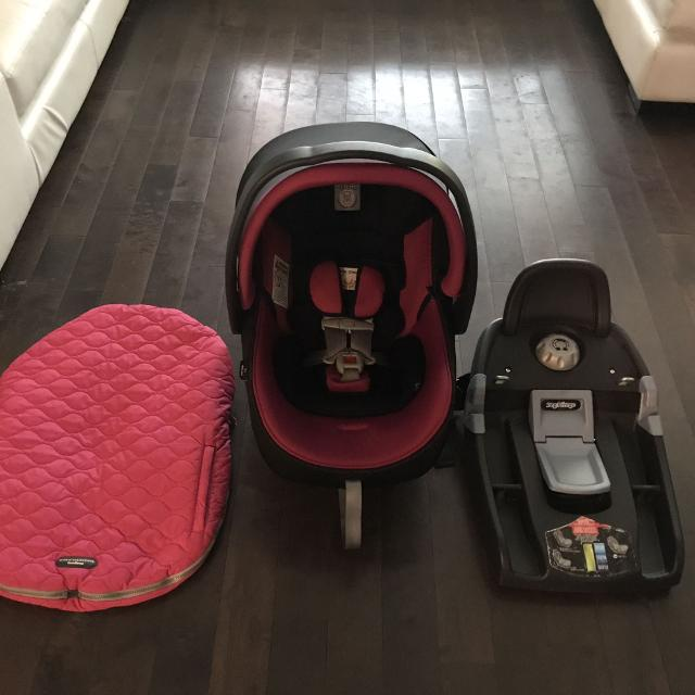 PEG PEREGO PRIMO VIAGGIO 4 35 INFANT CAR SEAT WITH BASE COVER