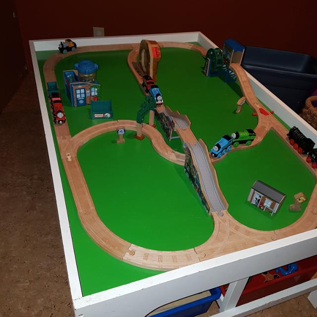 Thomas Wooden Railway Track And Train Lot