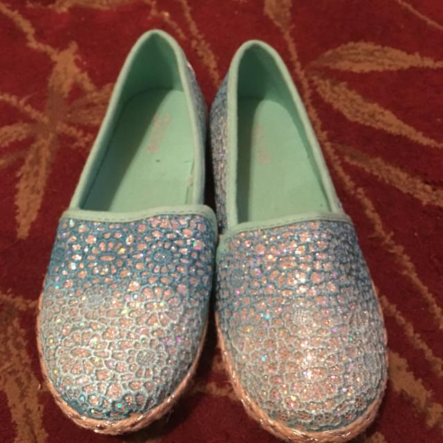 Best Justice Slip On Shoes Teal Sparkly  10 for sale in Cypress ... f9804a134044