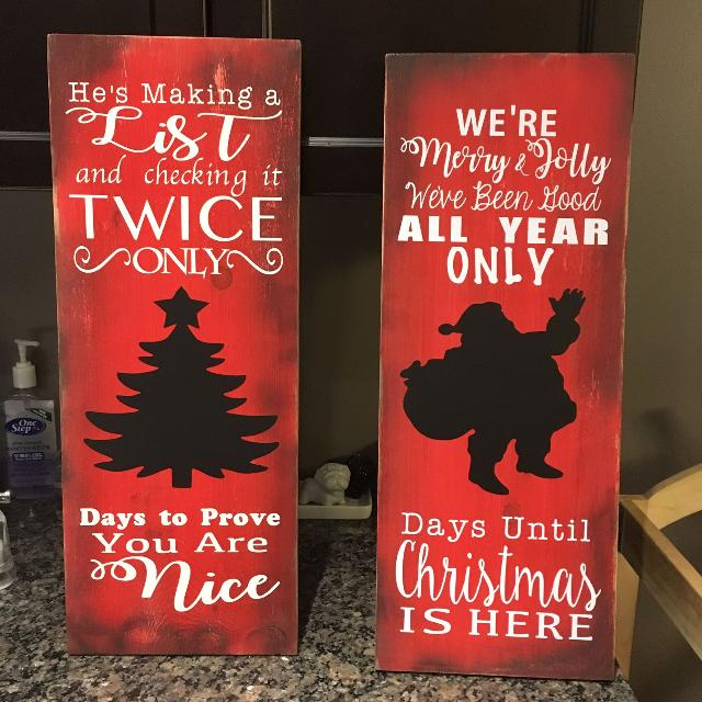Best Custom Made Chalkboard Christmas Countdown Signs for sale in Clarington, Ontario for 2019