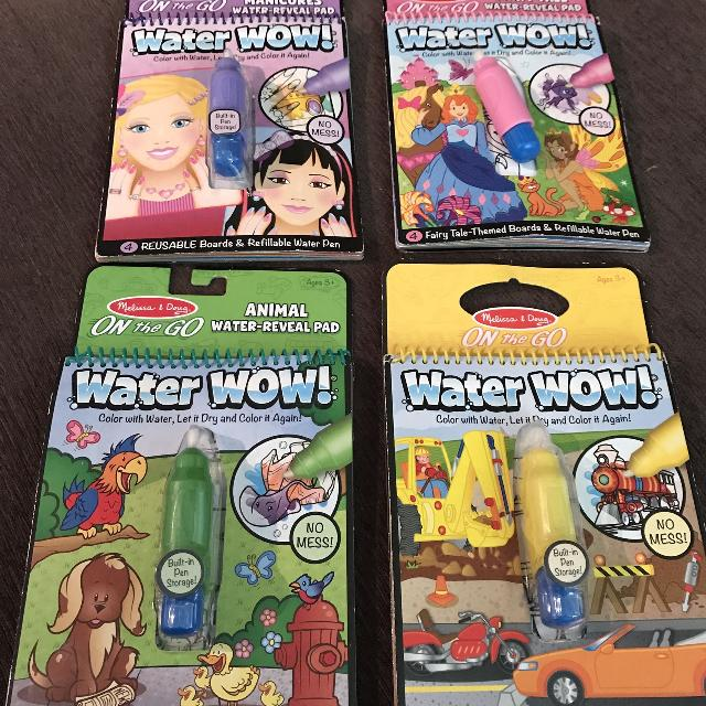 Find more 4 Melissa And Doug Water Wow Books With Pens, All Good ...
