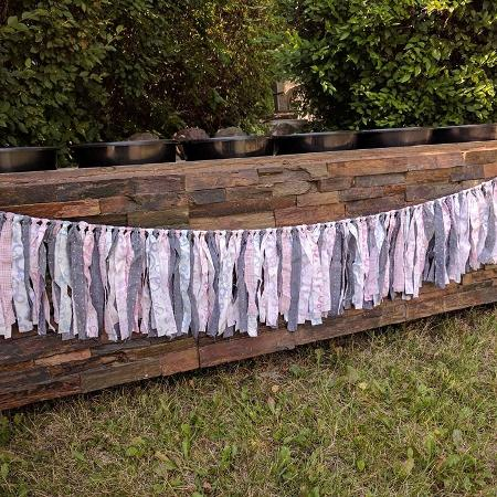 Hand Tied RAG GARLANDS , large (Pink,... for sale  Canada