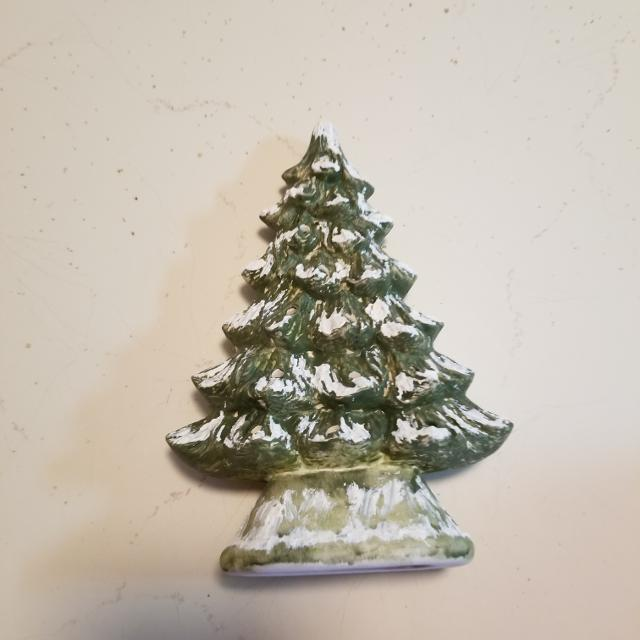 Ceramic Christmas Tree Has Holes For Pets No Pegs 9 Inches No Light
