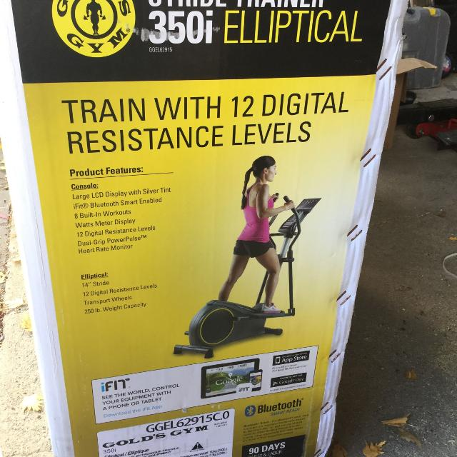 Elliptical trainer -REDUCED again -gold's Gym