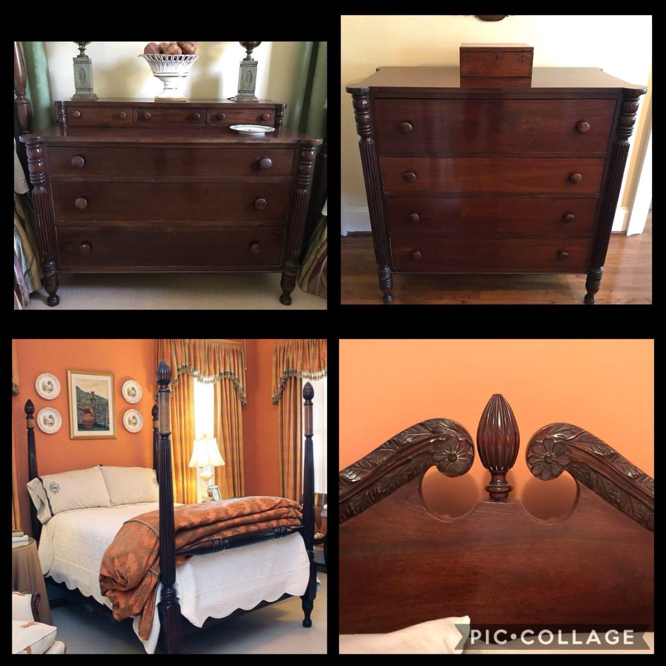 Best Antique Mahogany Bedroom Furniture-price Reduced! For