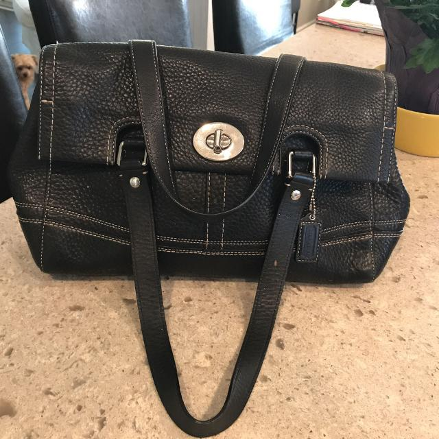 76fd67ad309 Find more Coach Handbag Black Pebble Leather. Authentic See No. In ...