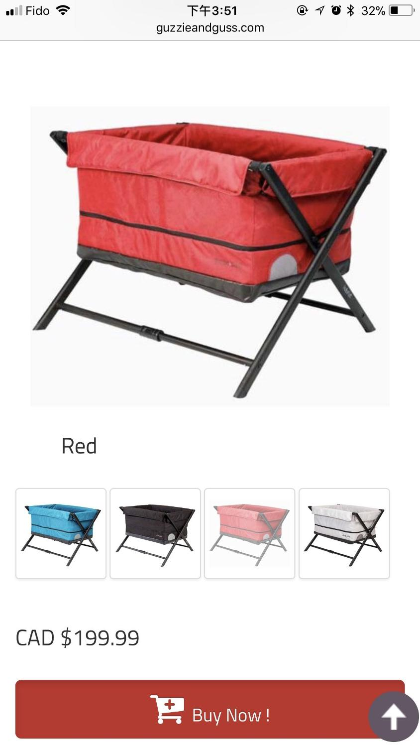 dd823805165 Find more New Guzzie+ Guss Red Adjustable Playpen Travel Crib Bassinet  Habitat Retails  199.99 Plus Tax for sale at up to 90% off - Victoria