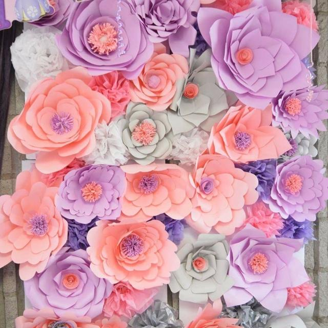 Best paper flower backdrop for sale in yorkville ontario for 2018 paper flower backdrop mightylinksfo