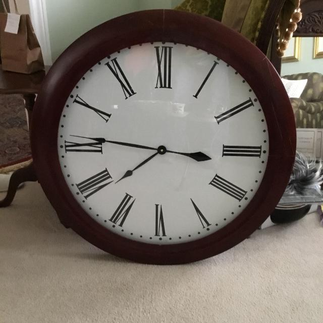 Find More Giant 32 Wall Clock With Wooden Frame New Price For Sale