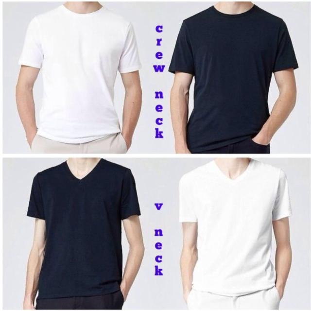Best New! 6 Pack White Or Black Crew (round) Neck Or V Neck Mens ...