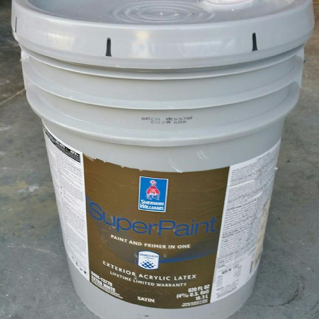 5 Gal Sherwin Williams Exterior Paint  Satin A100  Lilac  Unopened