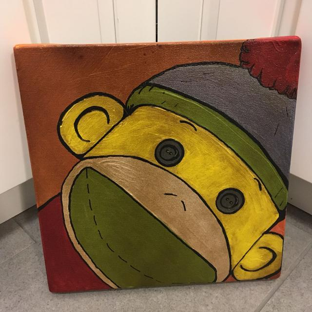 Best Sock Monkey Canvas Painting for sale in Richmond, Virginia for 2018