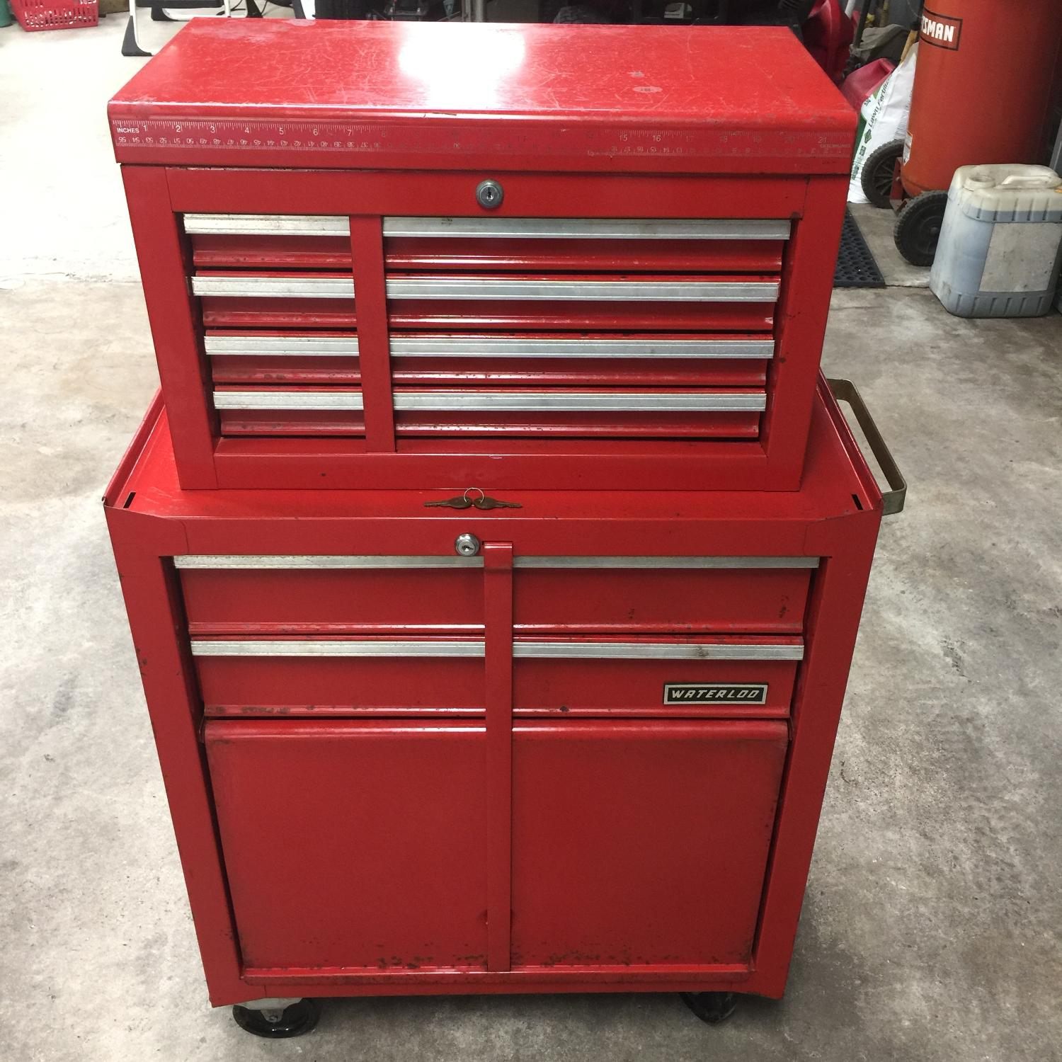 waterloo h drawer for at work w tool product pl in lowes cabinet reviews com storage benches chests display tools x shop cabinets