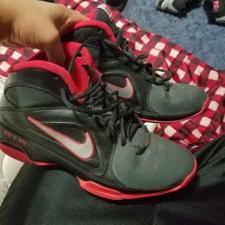 new concept 6fc62 b9c37 ... Red and black nike shoes ...