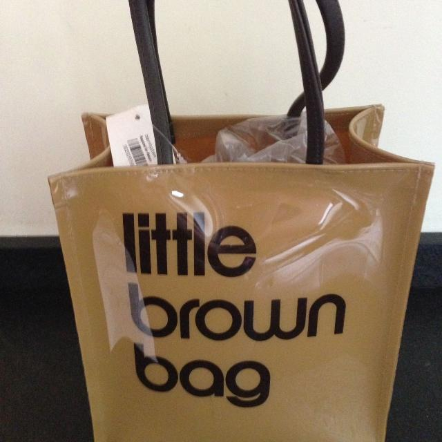Bloomingdales Little Brown Bag