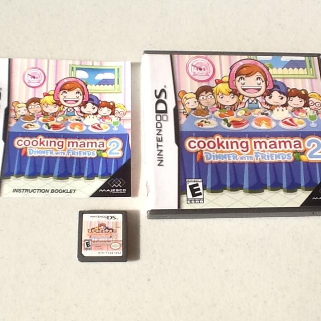 Cooking mama 2: dinner with friends (2007) nintendo ds box cover.