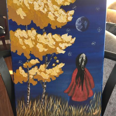 Art-aboriginal maiden acrylic painting for sale  Canada