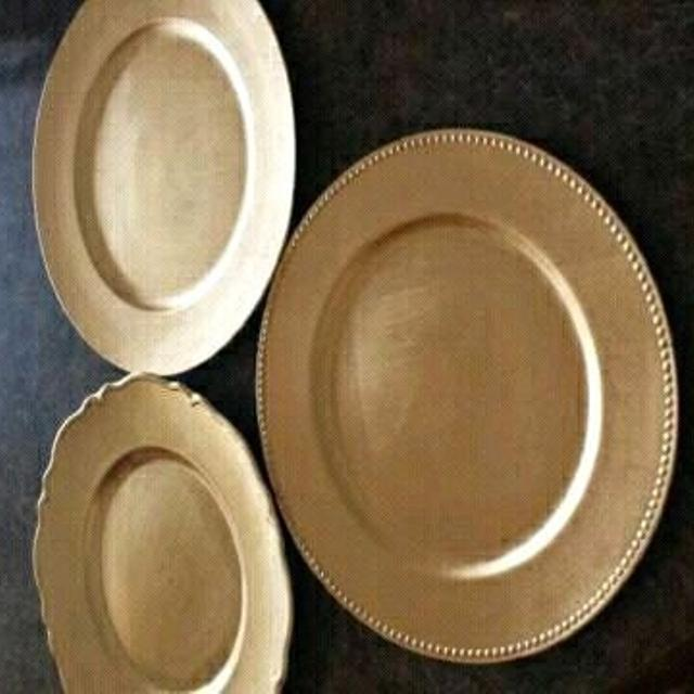 Gold Or Silver Charger Plates For Rent In Airdrie Alberta For 2019