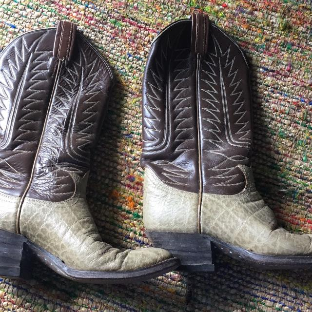 buying now uk store low price sale Tony Lama elephant skin Cowboy Boots 6 1/2 Western Boots