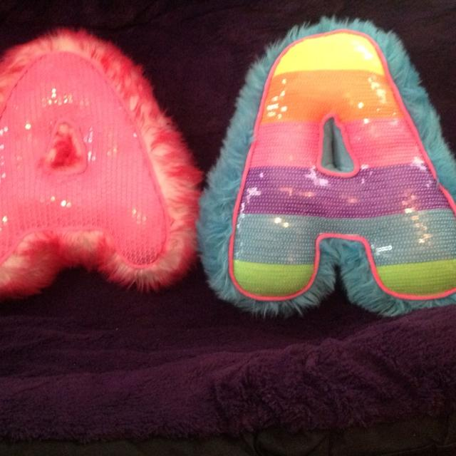 Justice Girls Letter A Pillows 500