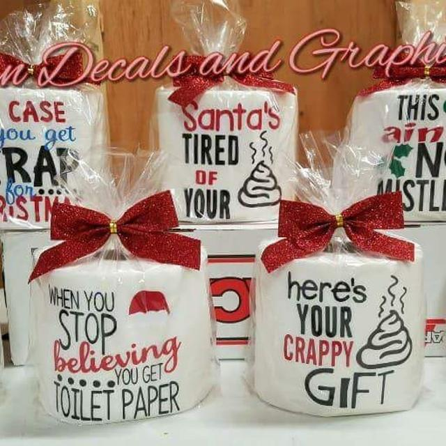 christmas toilet paper gag gifts 6 each or 2 for 10 a great gift for friends