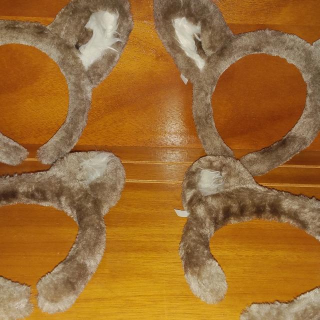 halloween 4 sets of plush wolf ears
