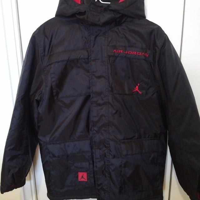 b436470ecbe Find more Air Jordan Winter Jacket - Black And Red - Boys Size Large ...