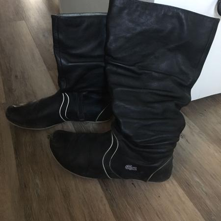 Black Lacoste Leather Boots with... for sale  Canada