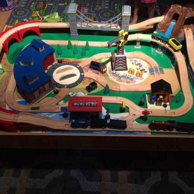 Find more Imaginarium Wooden Train Table Set for sale at up to 90% off